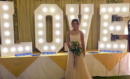 Light up love letters for weddings